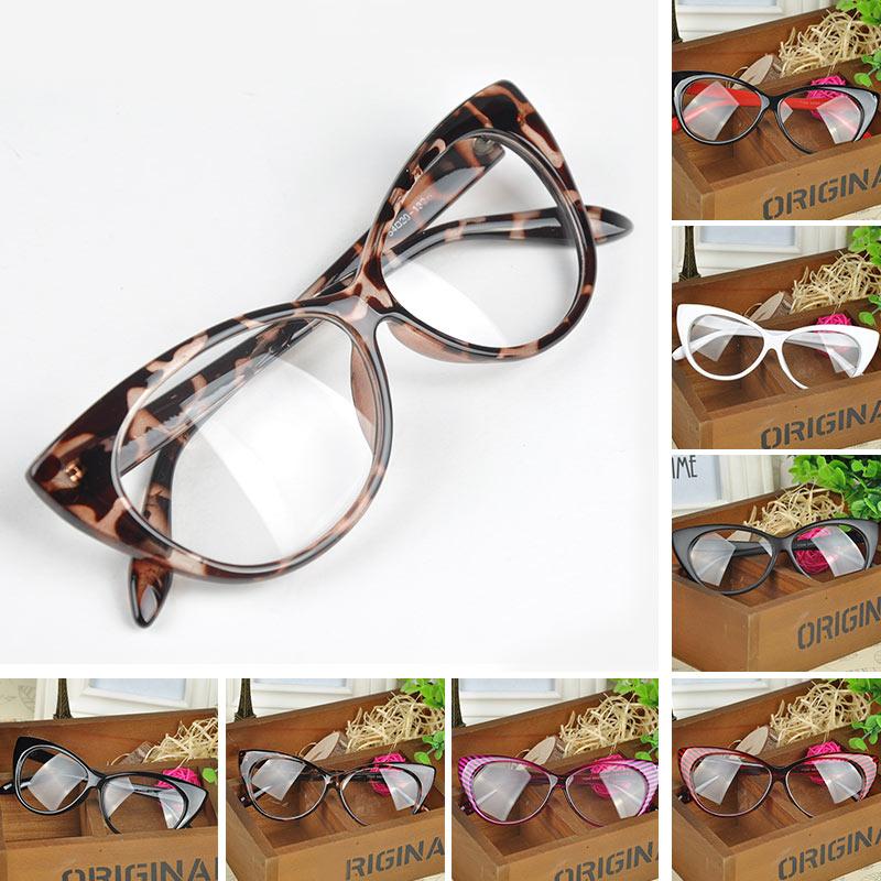 693e9e3809265 2019 Casual Style Women Lovely Cat Eye Pattern New Designer Glasses ...