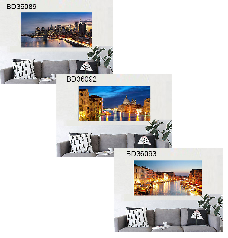 CE city canvas sample large wall art paintings