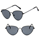 DLL180 Metal Cat Eye Jelly Color Lens Fashion Sunglasses