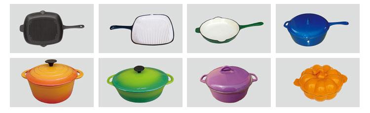 エナメル鋳鉄スープの調理鍋/エナメルミルク加熱ポットでハンドル