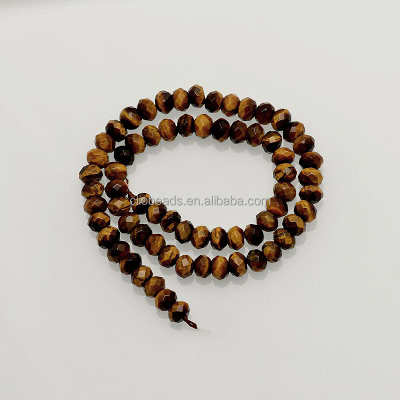 7cf93a34aaba CB53369 Ojo de Tigre tallado rebordea rondelle piedras preciosas para la  fabricación de la joyería