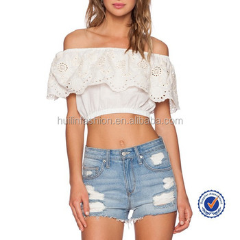 c1f1c544acda61 india wholesale clothing off-shoulder white sexy crop top cotton indian  bohemian women blouses