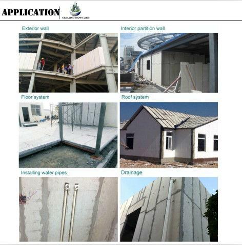 Kenya Maison Préfabriquée Vanjoin 75mm a Préfabriqué des Panneaux De Mur