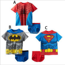 super man T shirt baby underwear new design baby boys clothing sets