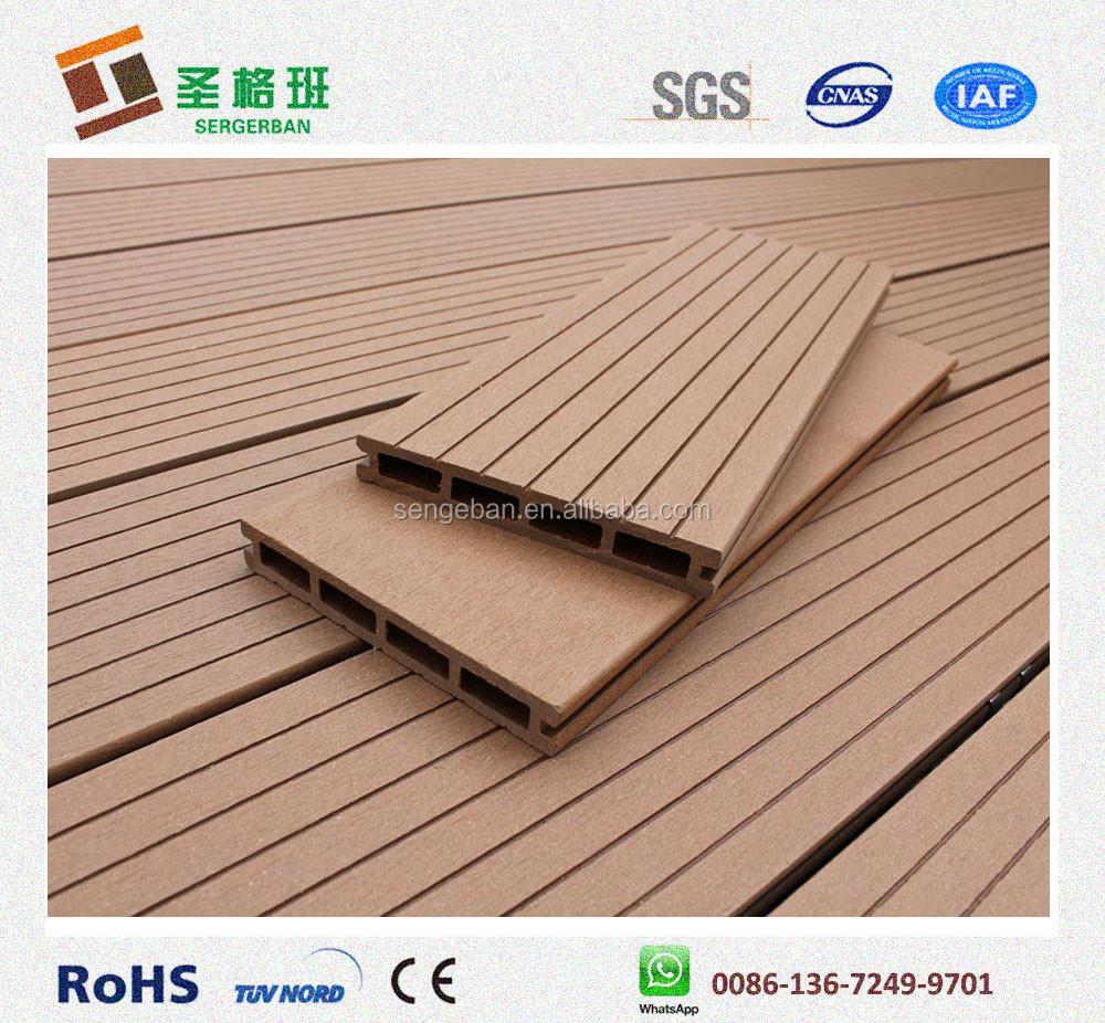 Exterior composite decking wood plastic composite wpc for Exterior hardwood decking