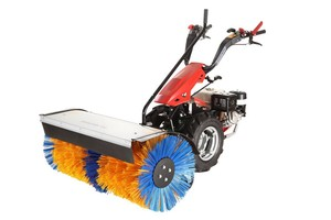 hand tractor mounted snow removal machine