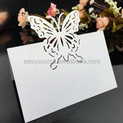 Butterfly pattern paper laser cutting elegent Exquisite model custom made seat cards table cards ZK55