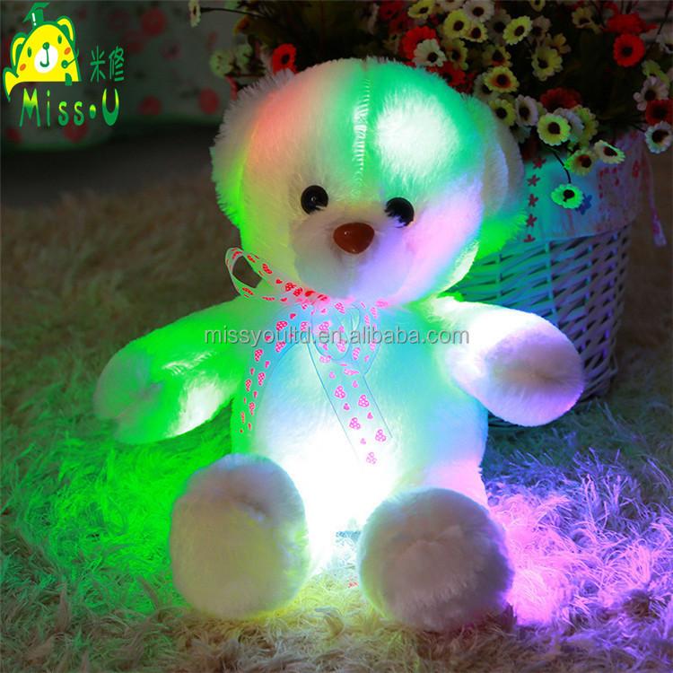 Wholesale Factory Customized Soft Plush LED Toys Night Lighting Bear