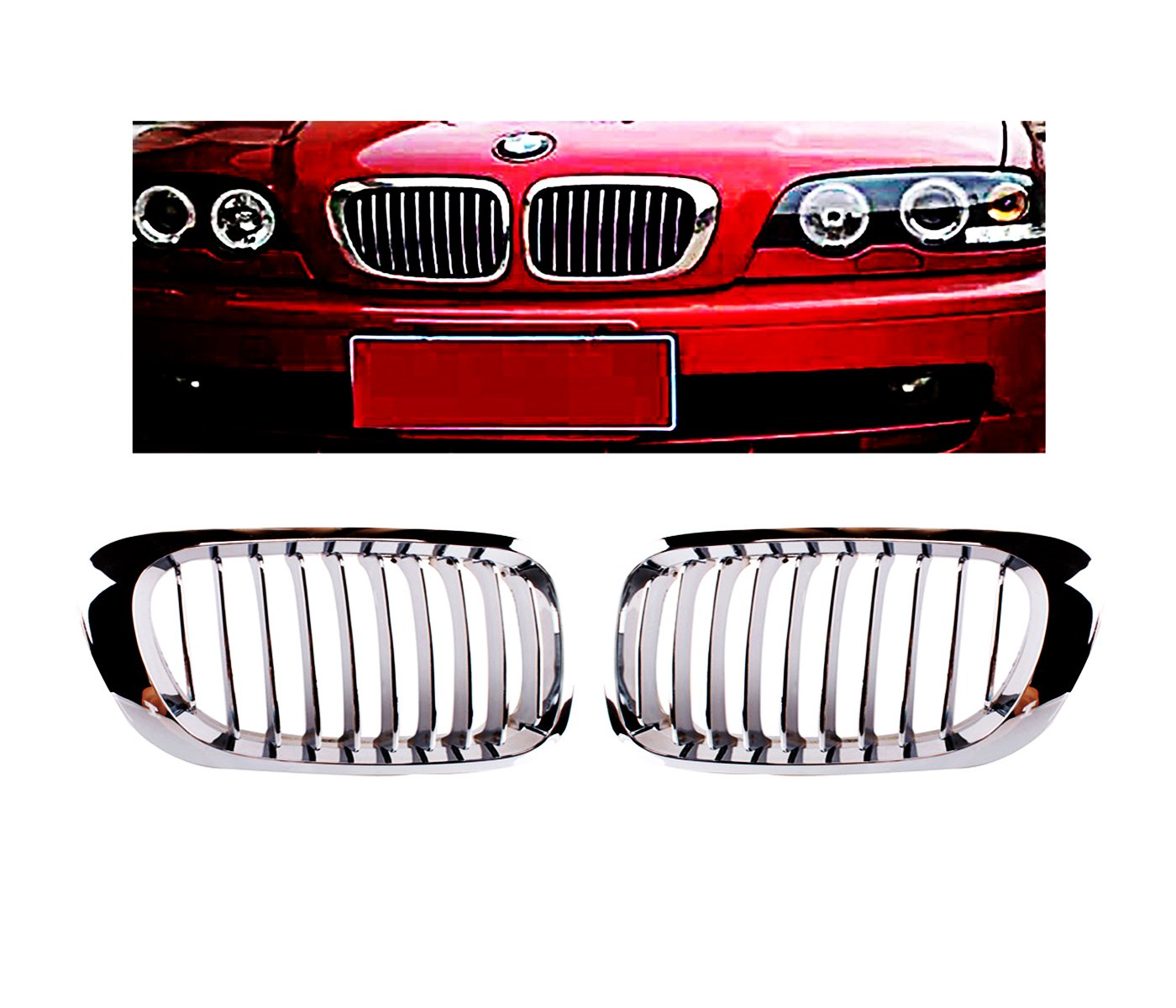 Get Quotations · Heart Horse Front Kidney Grille Grill for 1999-2001 BMW 3  Series E46 M3 323i