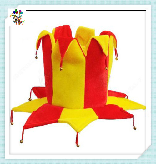 Bells Clown Red Yellow Costume Fancy Dress Party Jester Hats HPC-2612