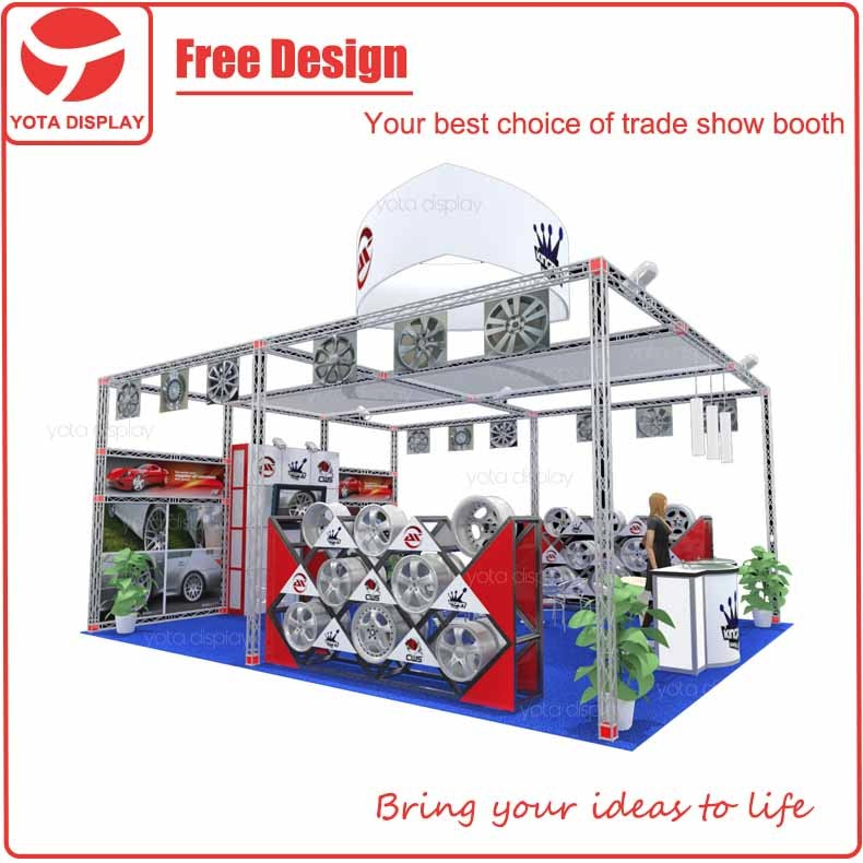 Yota offer Kingpin modular 20x20 China trade show booth exhibit display