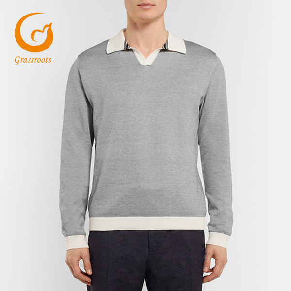 wholesale Knitted Cotton-Pique Polo Shirt