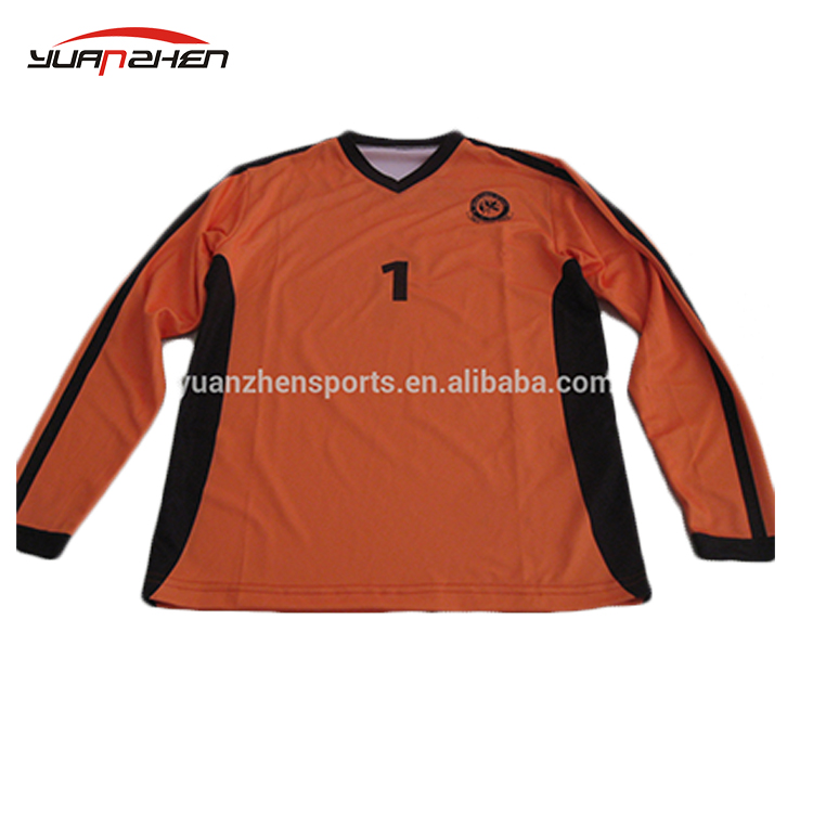 Personnalisé manches longues football jersey