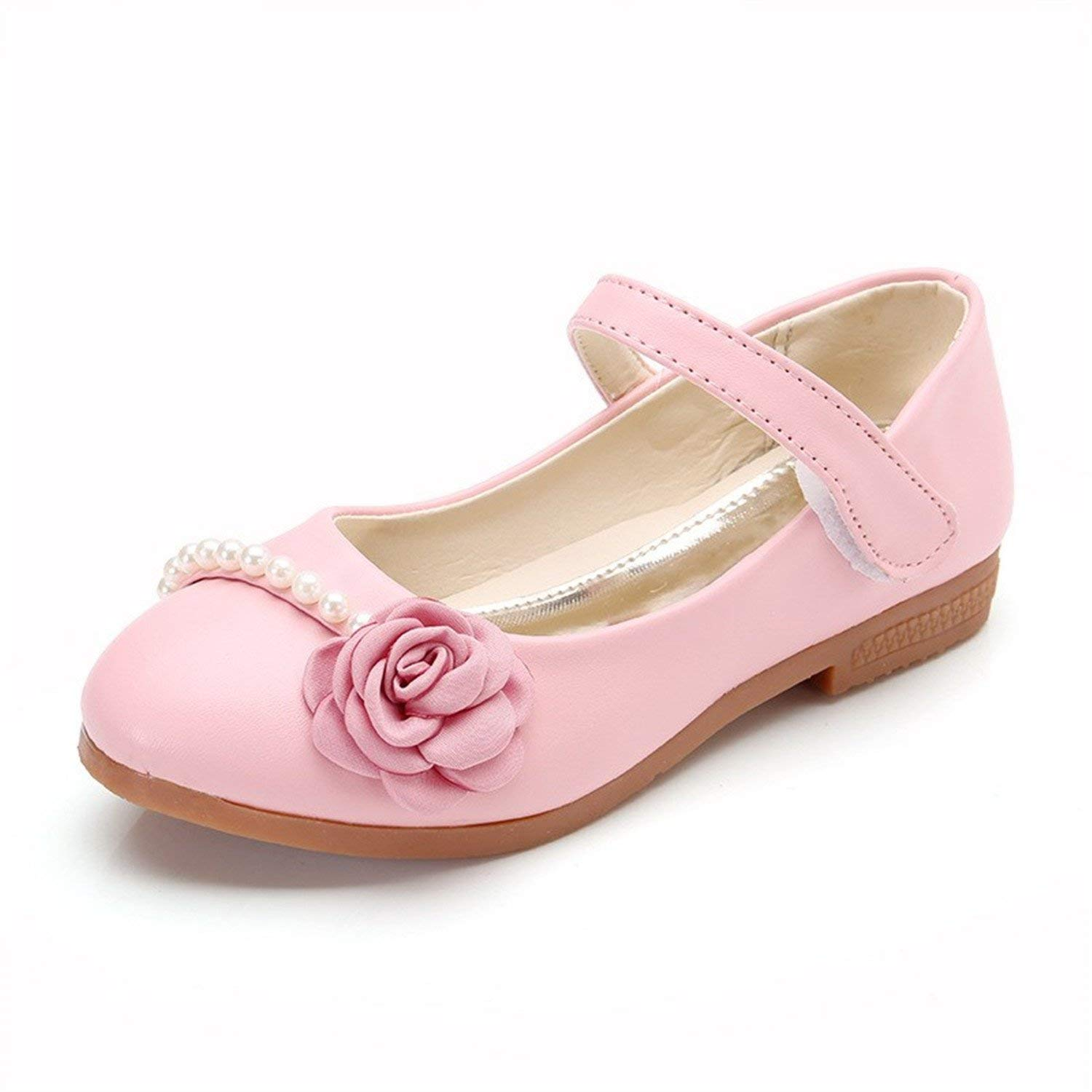 Get Quotations · Perfues Girls Pu Leather Shoes Kids Spring Autumn Party  Stage Fancy Dance Shoes Flower Flats Mocassins e917ad37b2ff