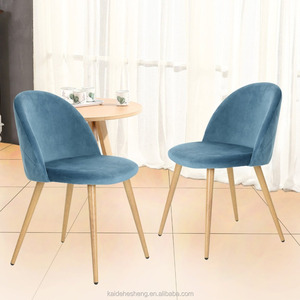 Dining Side Chairs Strong Metal Legs Fabric Cushion Seat and Back for Dining Room Chairs