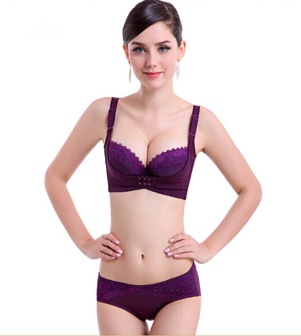0bee56f227 Get Quotations · High qiality cotton thin underwear women sexy bra push up  summer style strappy bra front buckle