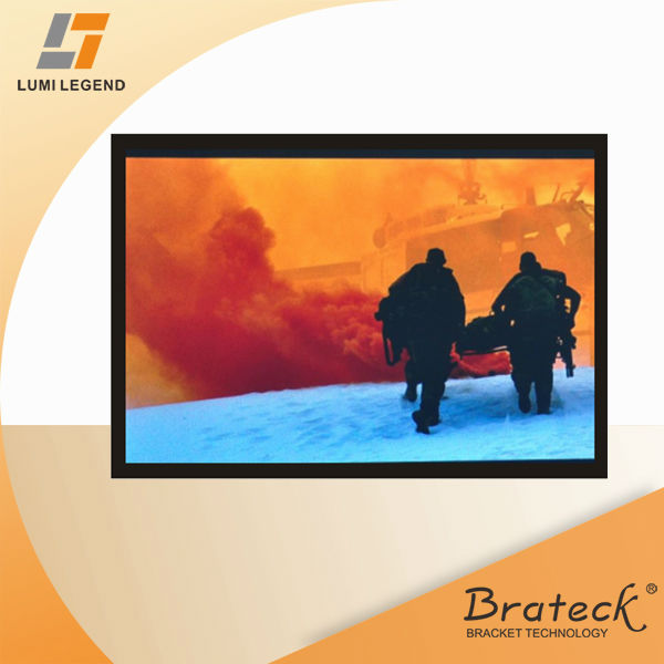 "16:9 Ratio 108"" Velvet Covered Deluxe Fixed Frame Projection Screen"