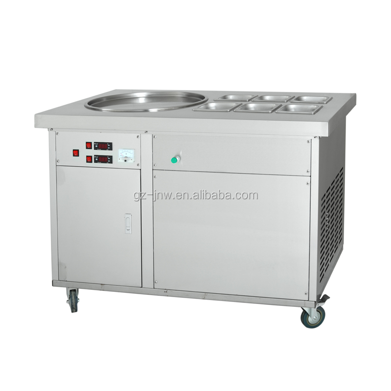 Guangzhou Thailand ice cream roll machine with precooling topping