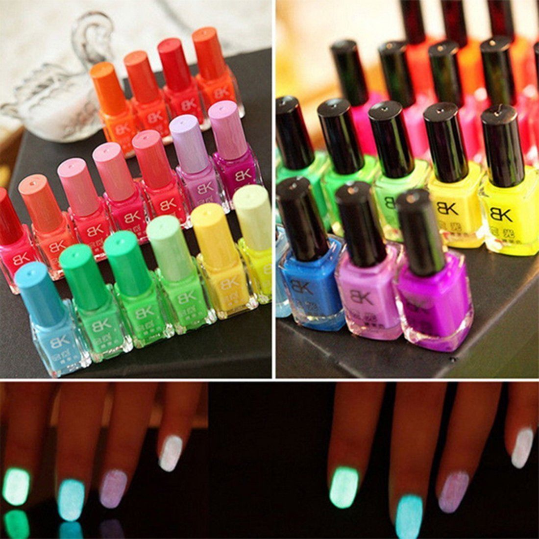 Buy 20 x NEON NAIL POLISH VARNISH SET 20 DIFFERENT BRIGHT NEON ...