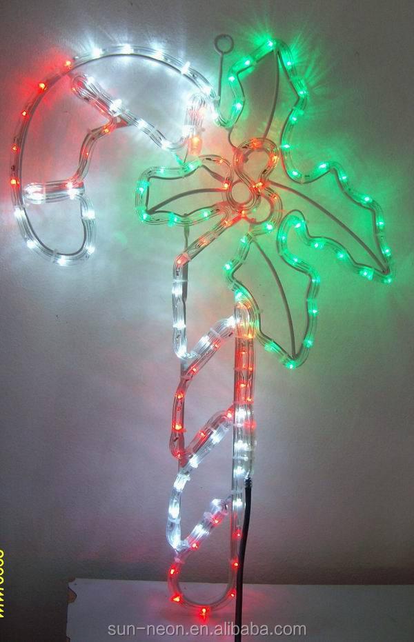 Candy cane with a leaf lecorative light led rope light buy candy candy cane with a leaf lecorative light led rope light aloadofball Images