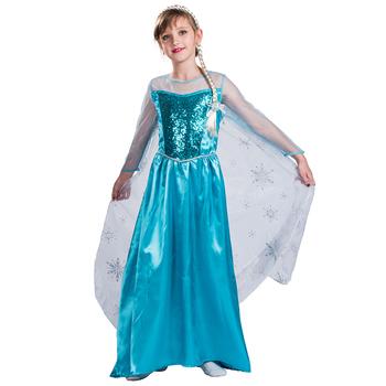 Cartoon Kids Costume Halloween Frozen Elsa Dress Barbie Girl Dress