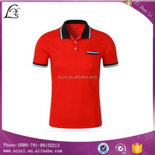 Custom color combination sports polo shirt design with blue and red polo shirt