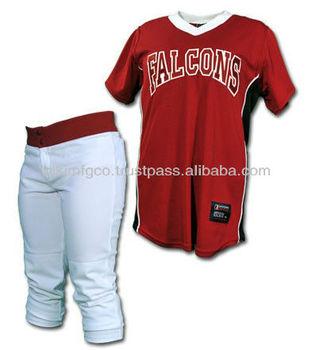 buy popular 642b6 58686 White / Red Softball Uniform,Custom Softball Uniforms,Full Customized  Softball Uniforms - Buy Cheap Softball Uniforms,Sublimated Softball ...