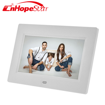 Sd/ Usb Digital Photo Frame 7 Inch White Color Advertising Player ...