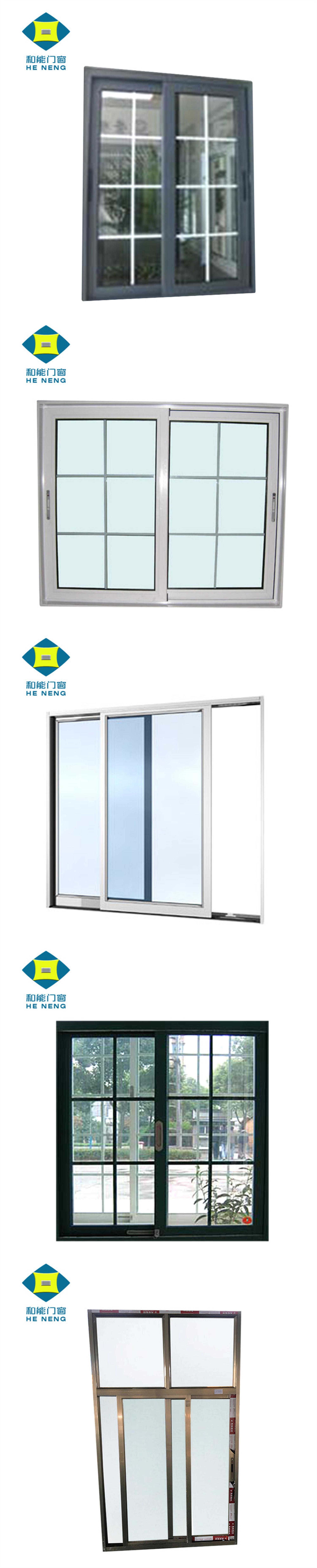 Grill Design Aluminum Frame Sliding Windows And Doors