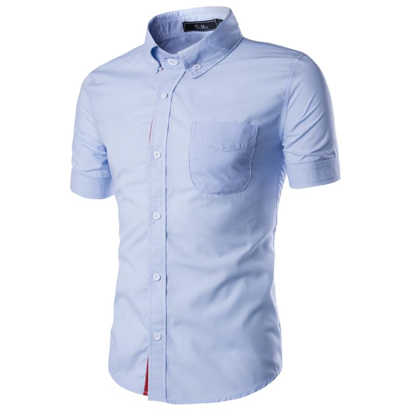 Compra mens camisas de vestir de manga corta online al por