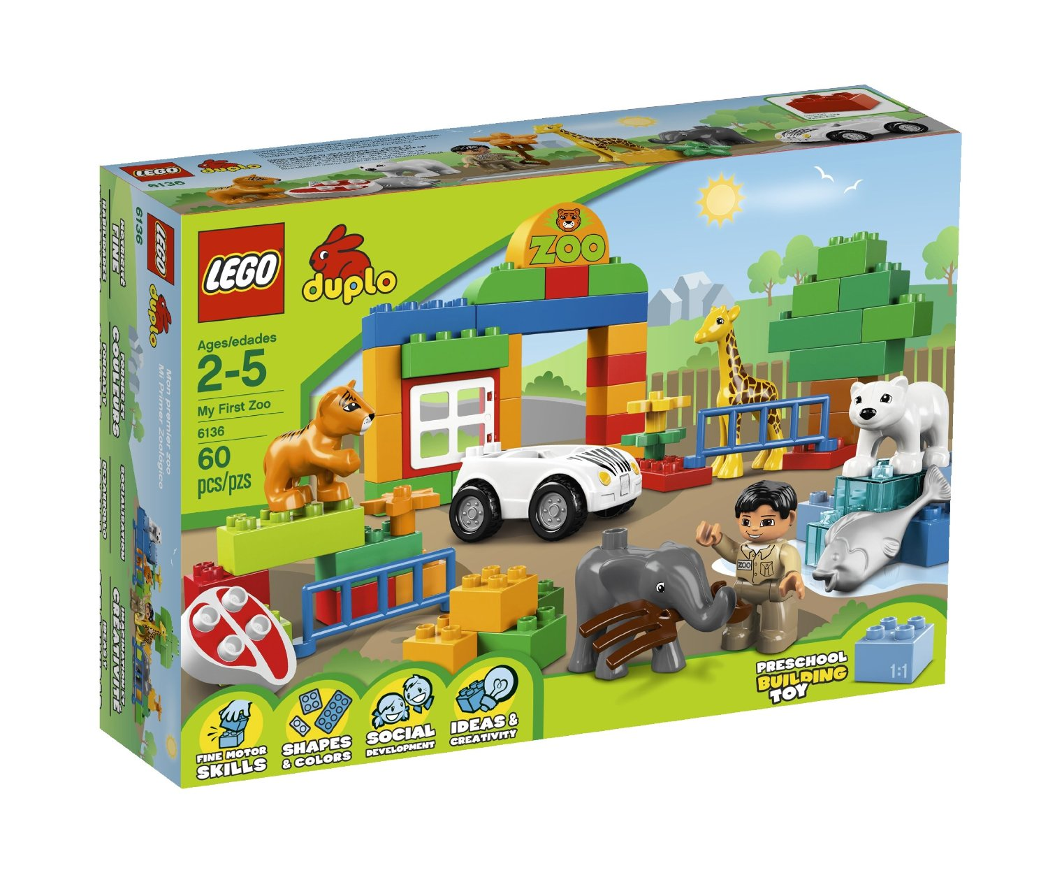 Buy Lego Duplo Town 6136 My First Zoo Building Set In Cheap Price On 10593 Fire Station