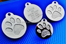 2015 Round Paw Dog Pet ID Tags Disc Dog tag or Cat tag Engraved Free