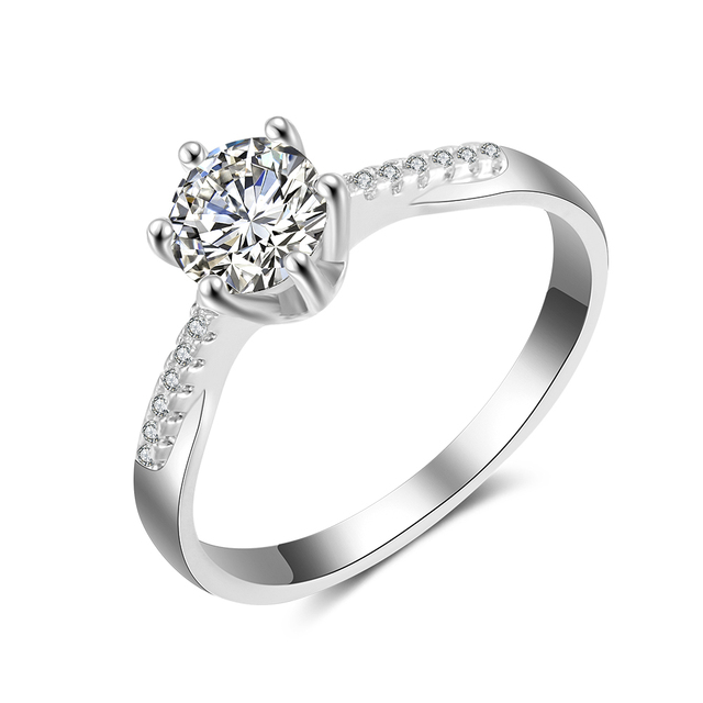 Price 1 Carat Diamond Engagement Ring Gold Wedding Jewelry Women