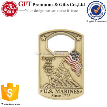 Free artwork design high quality low moq Full color enamel Beer Bottle Openers Dog Tag