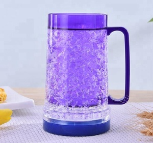 Double wall beer cup summer ice cup plastic double wall plastic mug