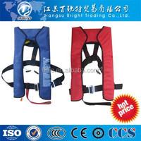 150N Inflatable Life Jacket red Black