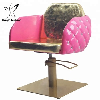 Wholesale Custom Elegent Barber Hair Pink Styling Salon Chair