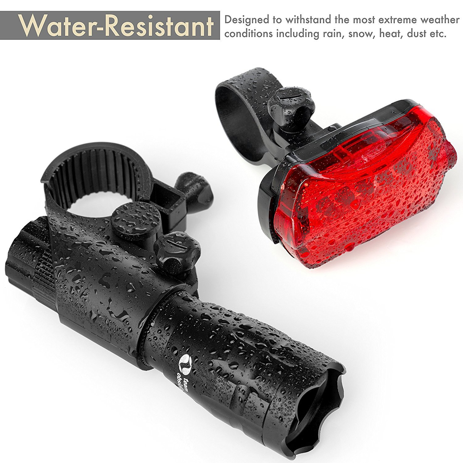 Super Bright LED Lights for Your Bicycle - Easy to Mount Headlight and Taillight with Quick Release System