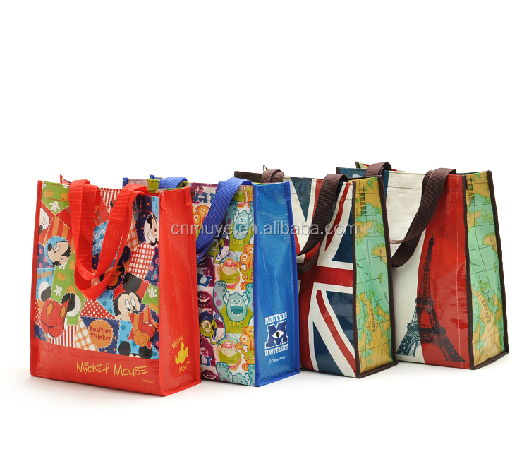 full color printed woven polypropylene bags for advertisement