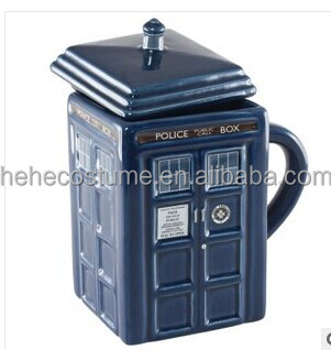 2016 new design , Doctor WHO tardis mug,Figural Tardis mug