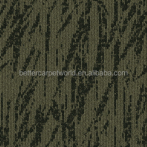 Strong Durable rubber backed shaggy carpet tiles