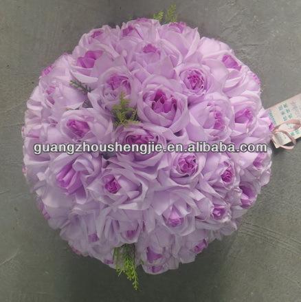 belle rose artificielle balle fausse fleur rose boule de d coration de mariage fleurs. Black Bedroom Furniture Sets. Home Design Ideas