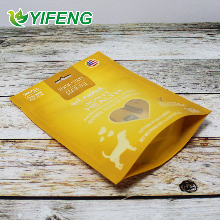 Custom printed aluminum foil airtight animal supplements packaging pouch/pet food bags with ziplock