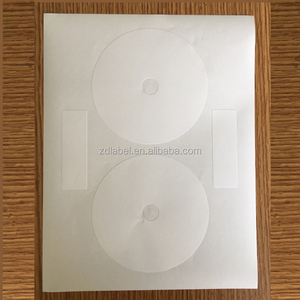 "Compulabel 312693 - Self Adhesive White CD/DVD Labels. 4.65"" Diameter"