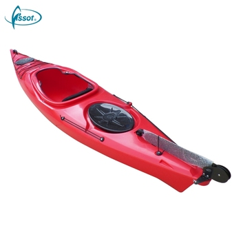 OEM supplied professional single seat China manufacturer sale one person fishing pedal sea kayak cheap canoes