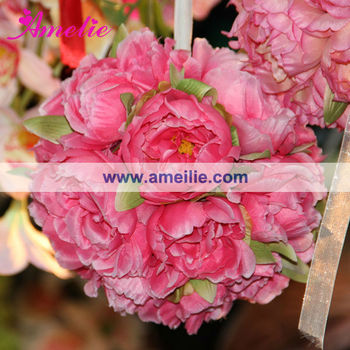 Wholesale silk wedding flower kissing ball buy flower kissing ball wholesale silk wedding flower kissing ball mightylinksfo