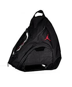 ff58d704f95329 Nike Jordan Jumpman Sling Black Patent Red Zipper Book-Bag BackPack  Men Women