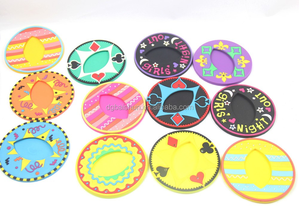 Coasters Flower Cup Mat Set of 6 Perfect Table Decor Housewarming Gifts Colorful Silicon Non-slip Vintage Mats & Pads Round