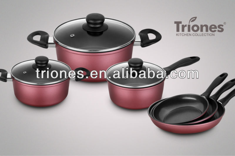 2015 New Forged Carbon Steel 9pcs Non-stick cookware set