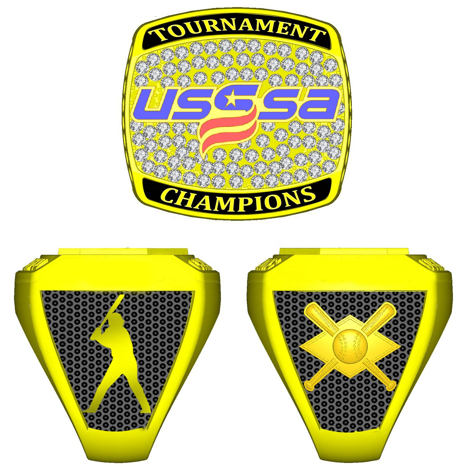 a46be1b888a27 Custom Die-cast Design Your Own Baseball Usssa Championship Ring ...